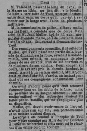 19000910 - Est Républicain - Décès Jean MULLER